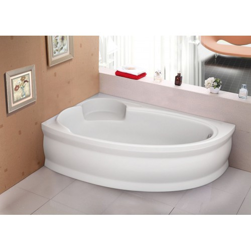 Ванна акрилова асиметрична Belina ліва 170х110 (панель + каркас)
